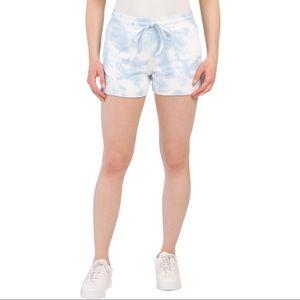 NWT AR-33 Cloud Blue Tie Dye Athleisure Shorts